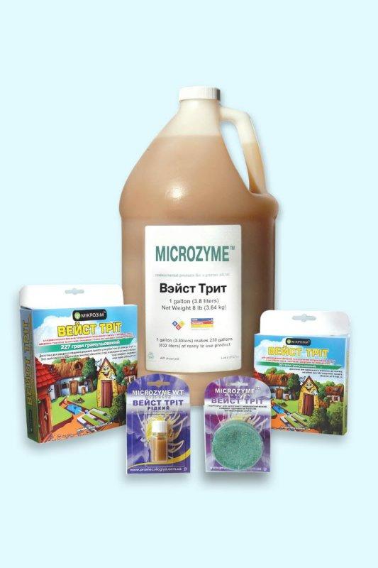 Купить Биопрепарат для выгребных ям и септиков, для очистки биотуалетов, Microzyme, Вейст Трит