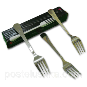 Buy Dessert forks stainless steel of 12 pieces of Lehre India