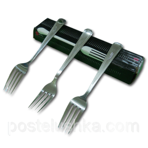 Buy Dessert forks stainless steel of 12 pieces of Triangular India