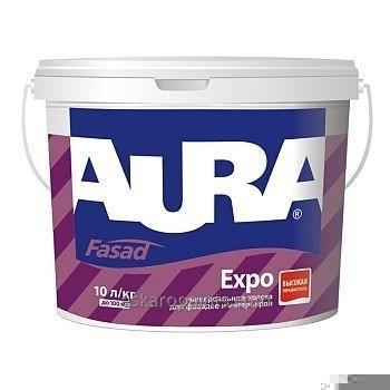 Универсальная краска для фасадов и интерьеров Aura Fasad Expo 10л