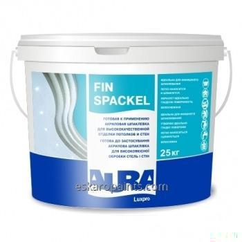 Acrylic filling for high-quality finishing of ceilings and walls of Aura Luxpro Fin Spackel 25 of kg