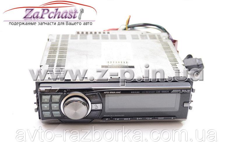 Автомагнитола alpine cde-9880r со встроенным усилителем выходной мощностью 4 х 50 вт.