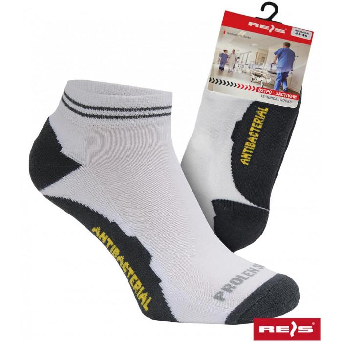 Buy Socks antibacterial XActive M white with black