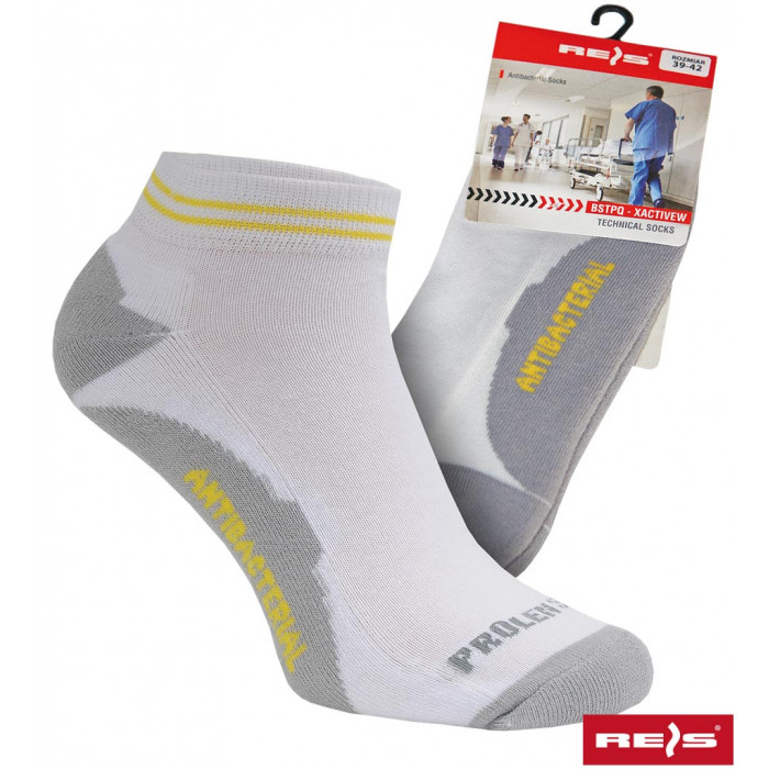 Buy Socks antibacterial XActive W white with gray