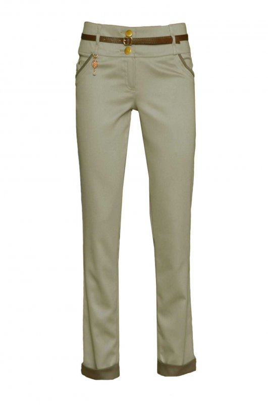 Женские брюки молодежные 210, Беж