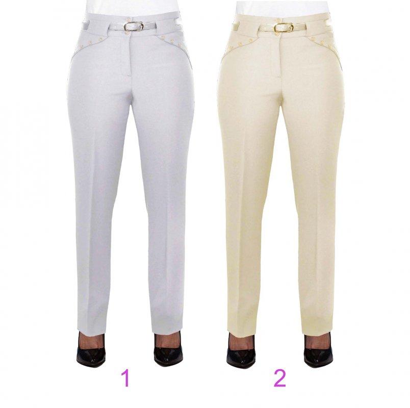 Женские брюки классические 257, Костюмка светлая