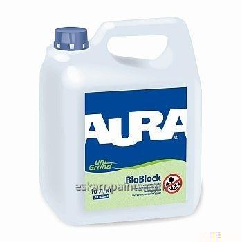 Укрепляющий антиплесневый грунт Aura Unigrund Bioblock 3л