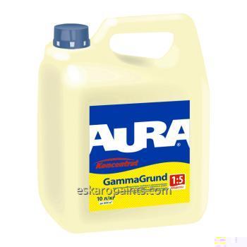 Купить Укрепляющая грунт-концентрат 1:5 глубокого проникновения для внутренних и наружных работ Aura GammaGrund 10л
