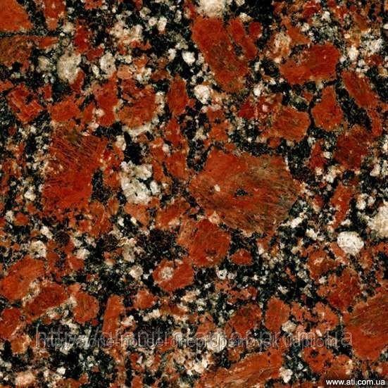 Капустинский гранит Rosso Santiago 600x300x20 полированный  0002