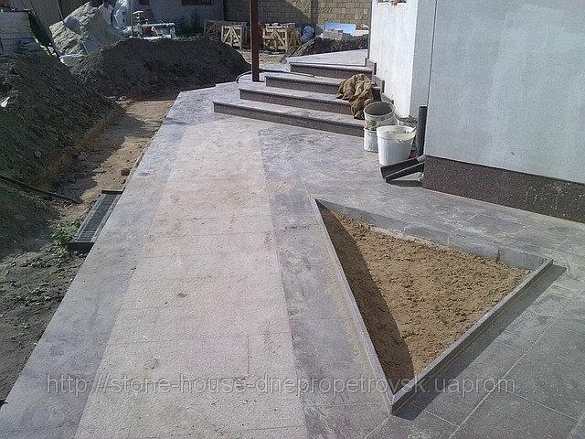 Гранитные слябы полированные 1 для лестниц ступеней