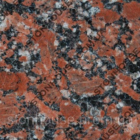 Капустинский гранит 600x600x20 полированный красный 0007