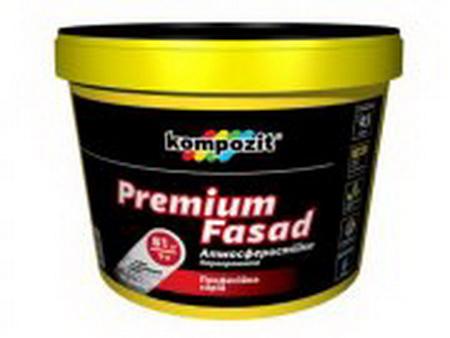 Краска водоразбавляемая латексная фасадная PREMIUM FASAD