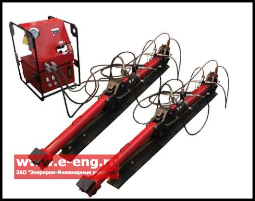 Купить Устройство для перемещения тяжеловесного оборудования по рельсам ТТГ25Г600