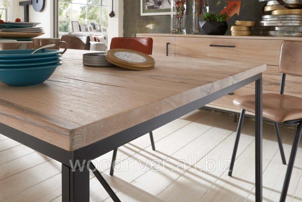 Кухонная мебель в стиле Лофт дубовая