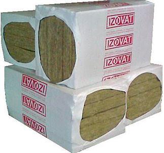 """Плити теплоізоляційні з мінеральної вати на синтетичному зв""""язуючому Izovat-135(135,1000х600х100 мм 1 упак.-2 шт-1,2 кв.м.)"""