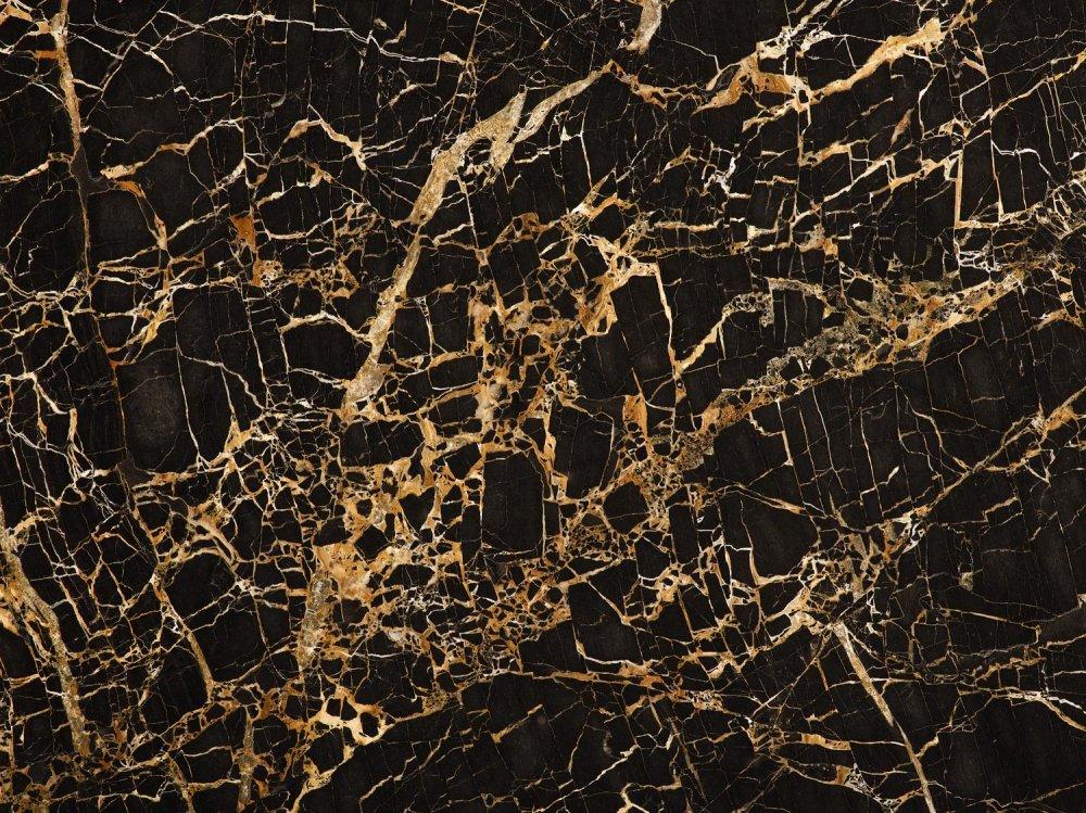 Мраморные слэбы PORTORO черный с бело-желтыми вкраплением  0603