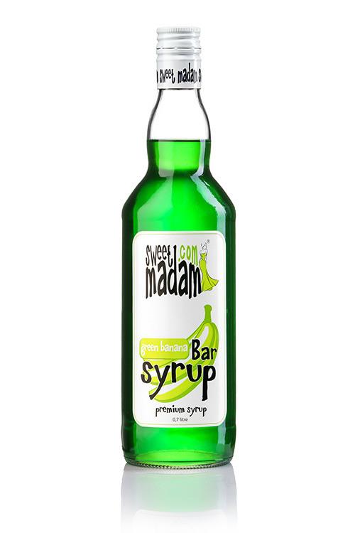 Bar syrup Green banana of 0,7 l. TM Sweet Madam