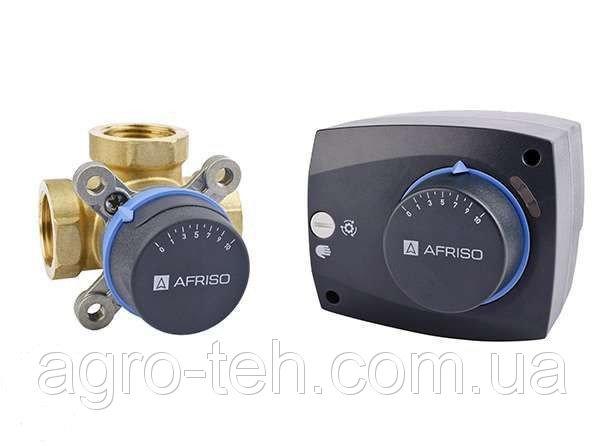 Смесительный трехходовой клапан Afriso 1 дюйм с электроприводом