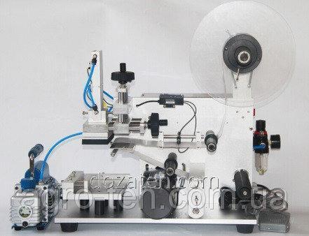 Этикетировочная машина аппликатор для плоских бутылок и емкостей
