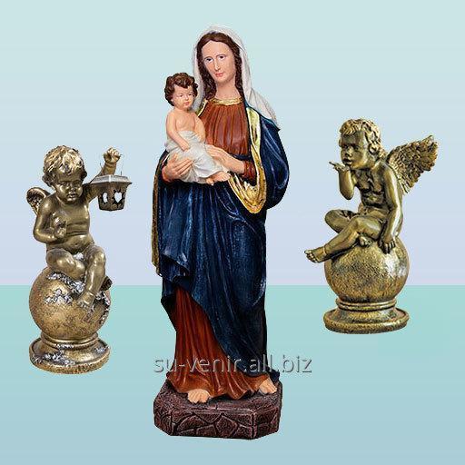 Садовые скульптуры Дева Мария с младенцем и ангелами