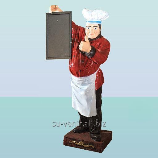 Набивная скульптура для рекламы ресторанного бизнеса Повар