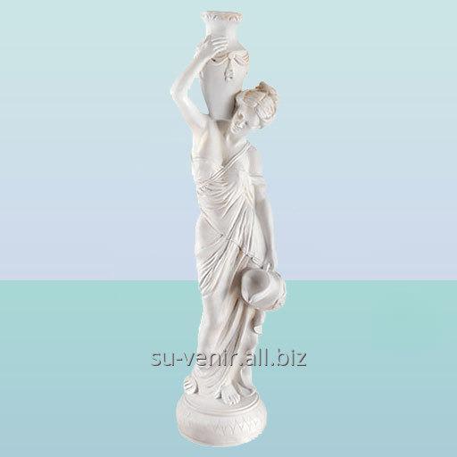 Фонтан скульптура для садового пруда Девушка с кувшином