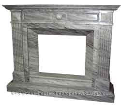 Камины из мрамора, Классический белый 0202