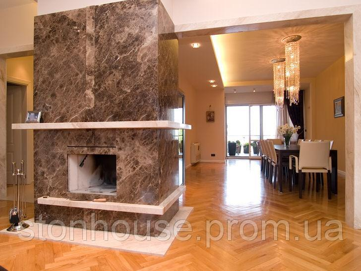 Мраморный камин Модерн
