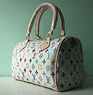 90e80f95750b Сумка Луи Витон/Louis Vuitton Spedy белая с цветной монограммой ...