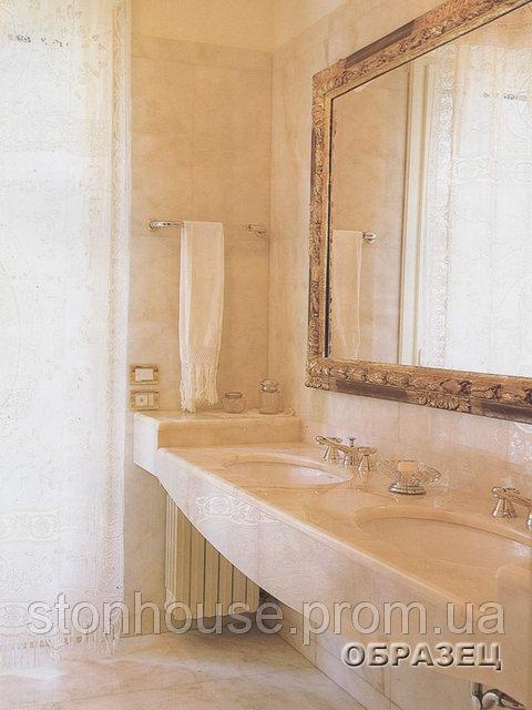 Столешница из мрамора для ванной  03