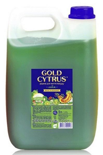 Средство для мытья посуды GD Gold Cytrus 5000мл зелёный 1/15