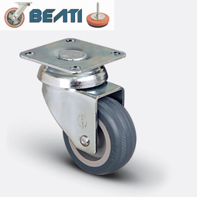 Купить Колесо поворотное на термопластичной резине 50 мм