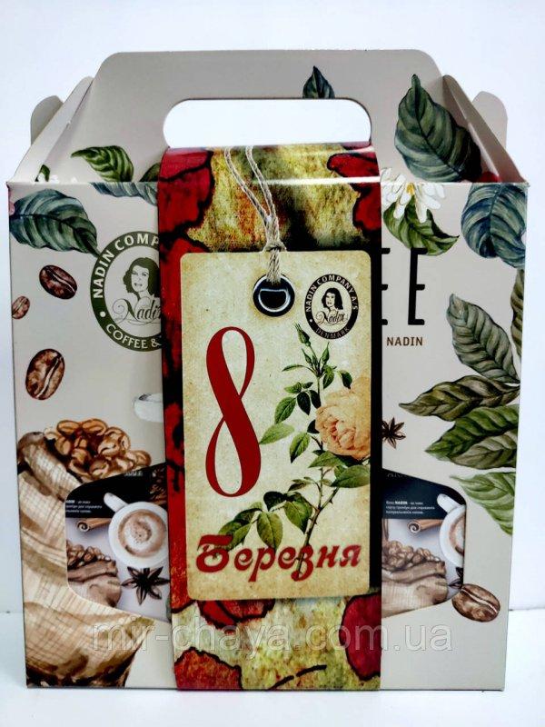Buy Gift handbag No. 4 with ground coffee 3 * 100 g