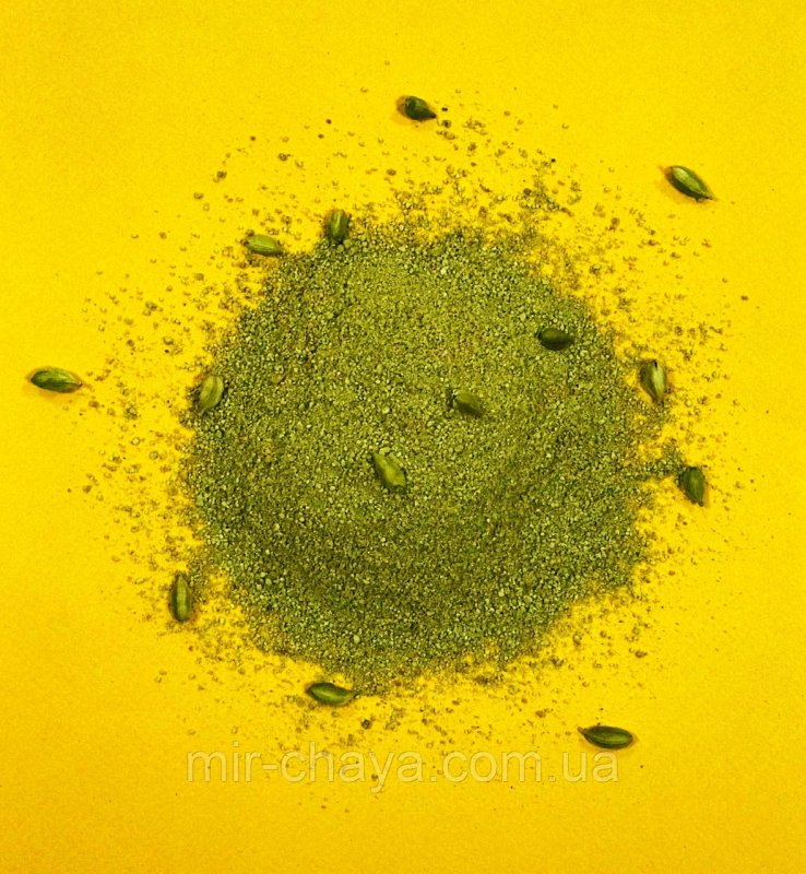 Купить Кофе зеленый молотый с кардамоном весовой, 0,5кг.