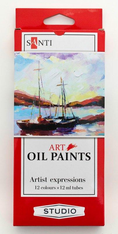 Краска маслянная Santi Studio набор 12мл*12шт.