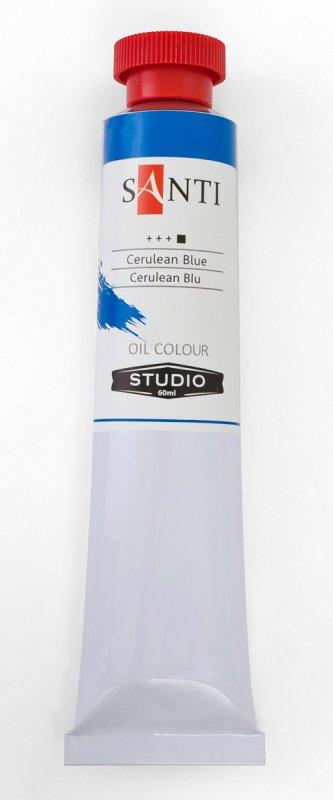 Краска маслянная Santi Studio 60мл Хром-кобальт сине-зеленый №13