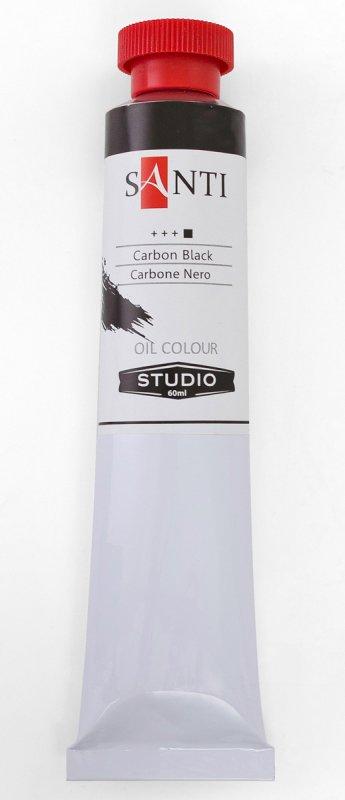 Краска маслянная Santi Studio 60мл Сажа газовая №105