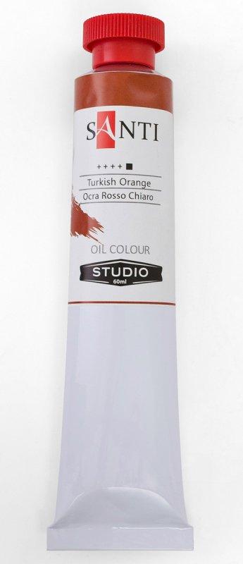 Краска маслянная Santi Studio 60мл Охра красная светлая №199