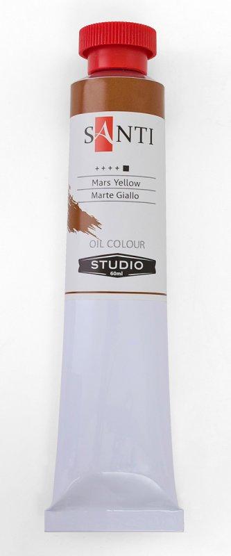 Краска маслянная Santi Studio 60мл Марс желтый №198