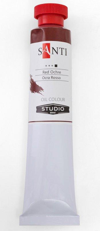 Краска маслянная Santi Studio 60мл Охра красная №69