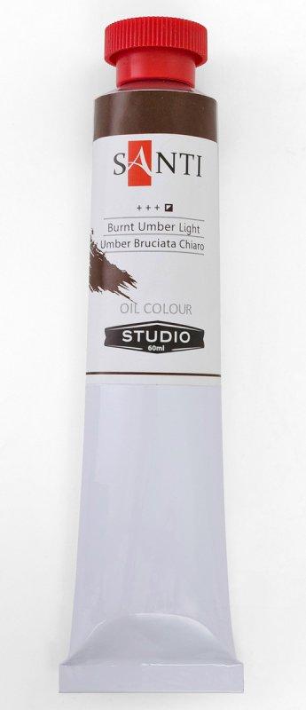 Краска маслянная Santi Studio 60мл Умбра жженная светлая №75