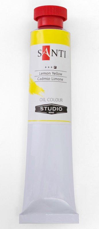 Краска маслянная Santi Studio 60мл Кадмий лимонный №08