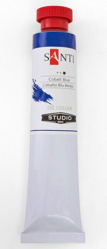 Краска маслянная Santi Studio 60мл Кобальт синий средний №38