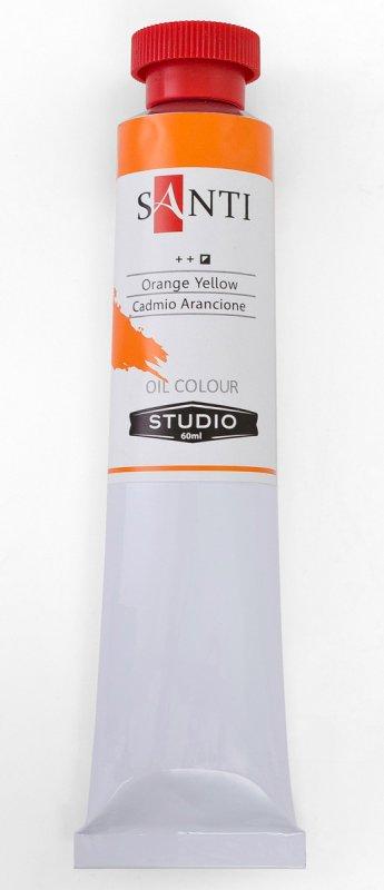 Краска маслянная Santi Studio 60мл Кадмий оранжевый №24