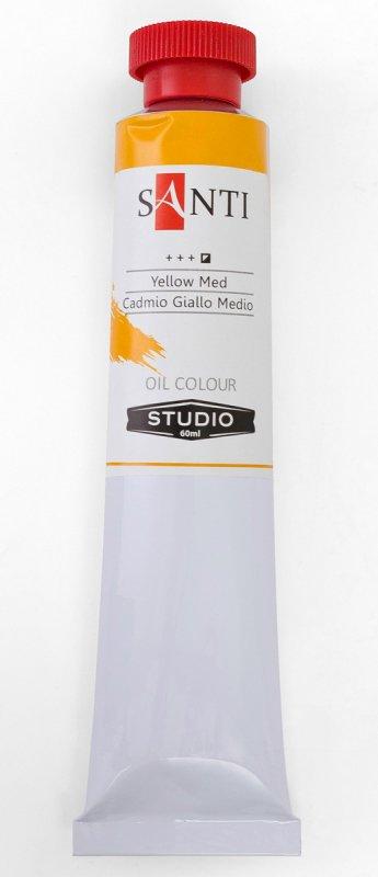 Краска маслянная Santi Studio 60мл Кадмий желтый средний №09