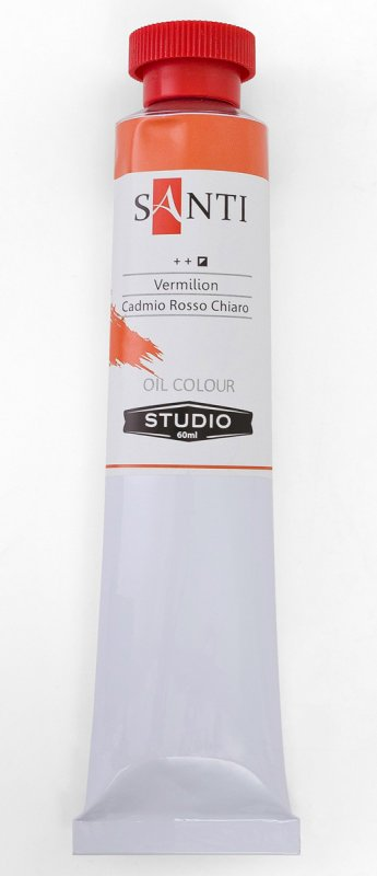Краска маслянная Santi Studio 60мл Кадмий красный светлый №02