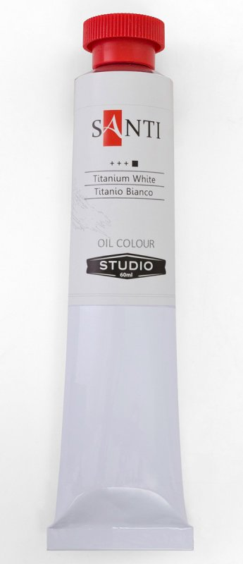 Краска маслянная Santi Studio 60мл Белила титановые №07