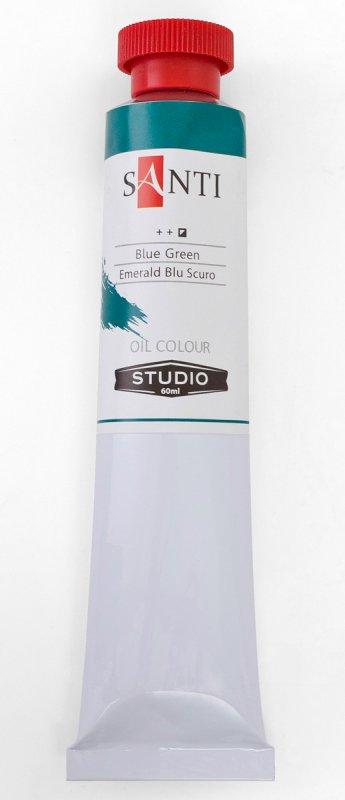 Краска маслянная Santi Studio 60мл Изумрудно-голубая темная №135