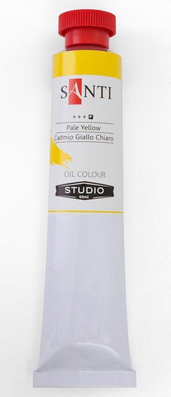 Краска маслянная Santi Studio 60мл Кадмий желтый светлый №64