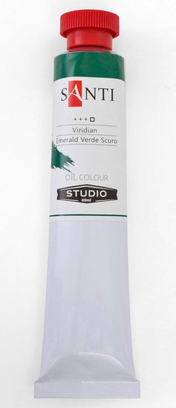 Краска маслянная Santi Studio 60мл Изумрудная зеленая темная №11